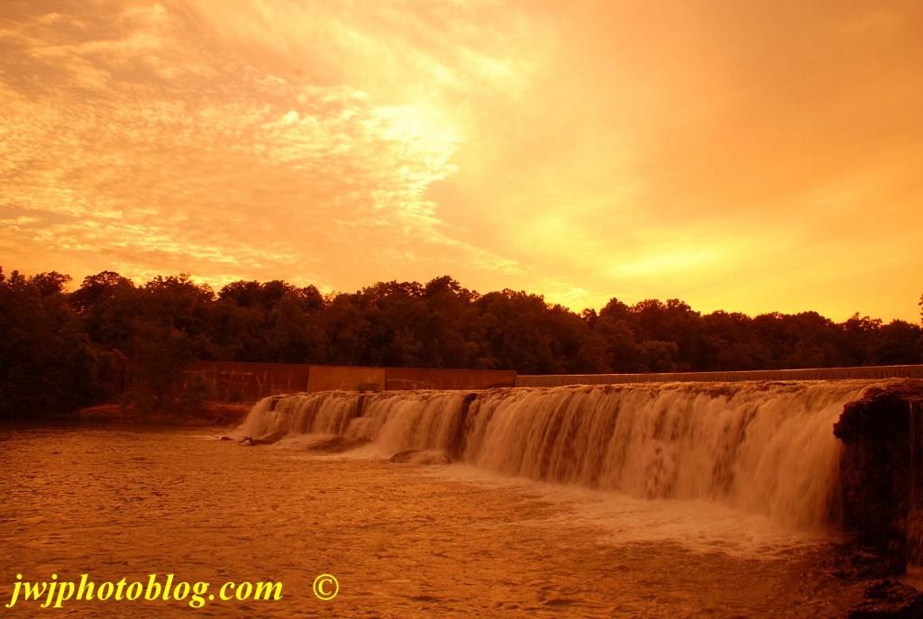 Grand Falls At Sunset