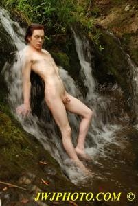 Pretty Boy In Waterfall