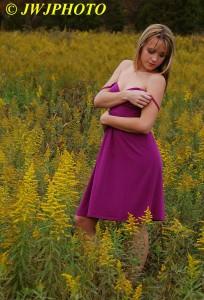 Purple Dress Demure