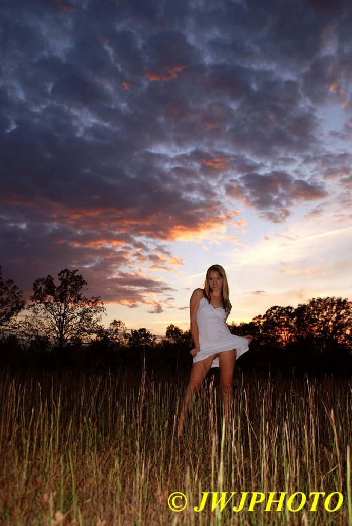 Sunset Field Babe