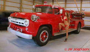 01A Red Bikini Red 57 Ford Pumper