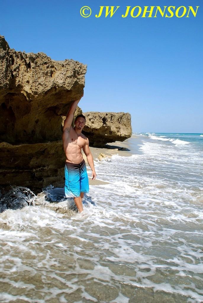 Beach Hottie Gets Wet