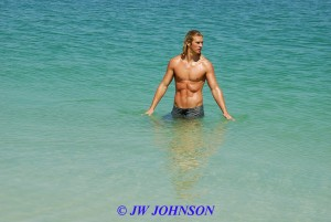 Blonde Hunk In Water