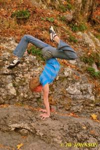 Handstand On Rocks