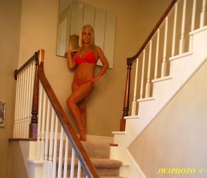 Stairway Landing Mirror Babe 2