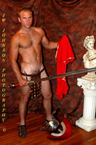 Roman soldier undressing