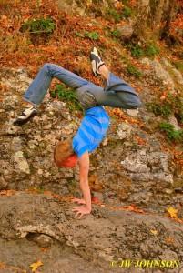 Handstand On Rocks 1