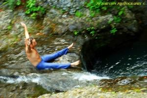 Sliding Down Falls 1