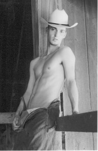 BW young cowboy