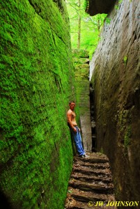 Mossy Rock Wall Passage