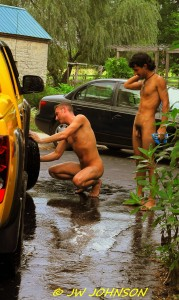 Washing Tires