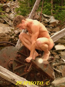 kneeling on machinery