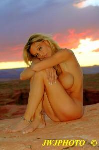 Innocent Sunset Babe