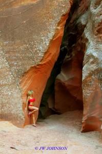 upper canyon entrance wall