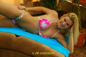 pink bikini flirt