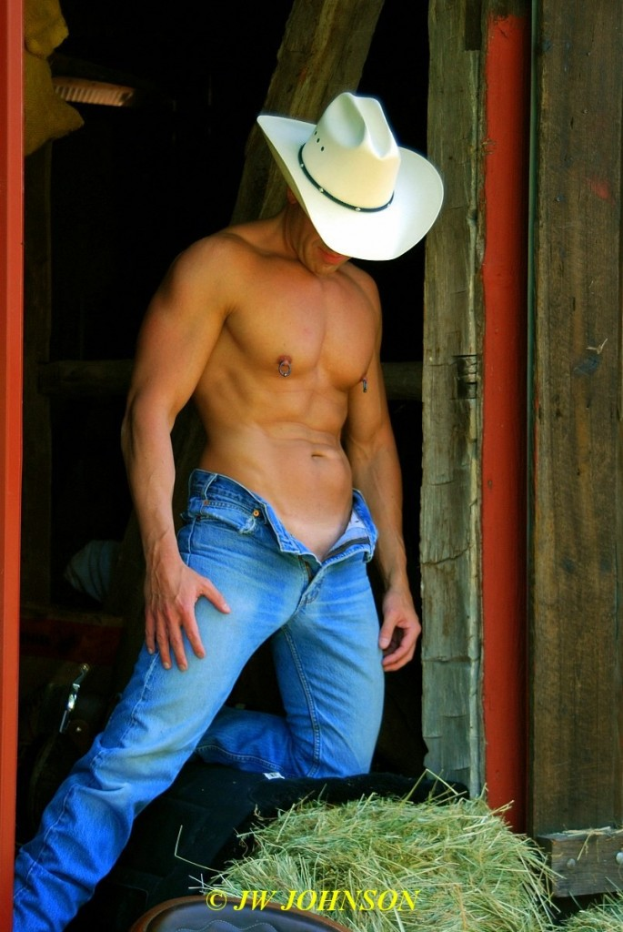 Cowboy in Doorway
