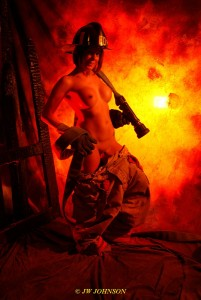FF Fireside Hose and Nozzle Babe