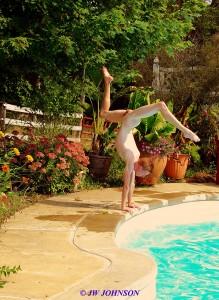 Handstand Poolside Art