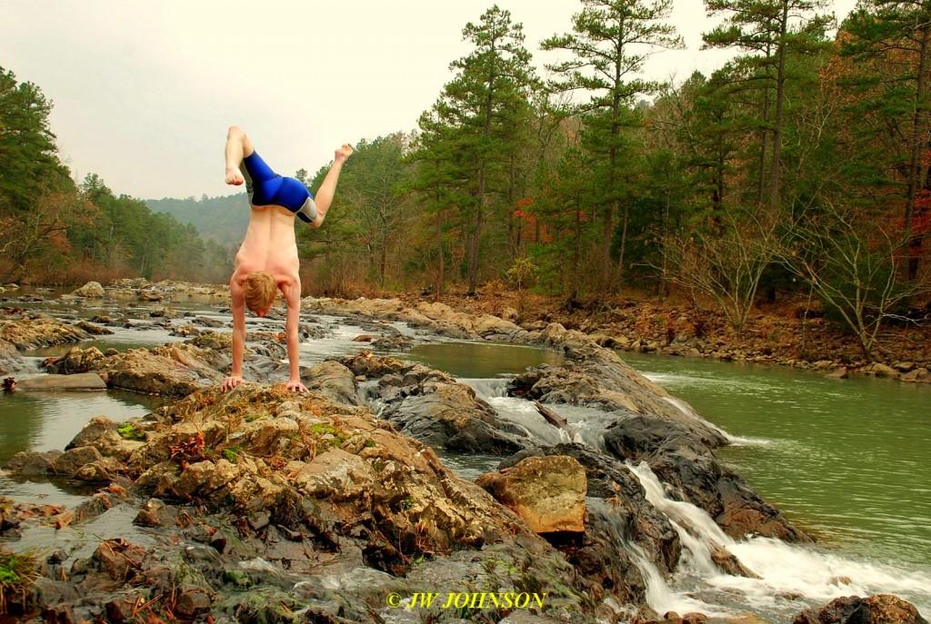 Handstand at Y City Falls
