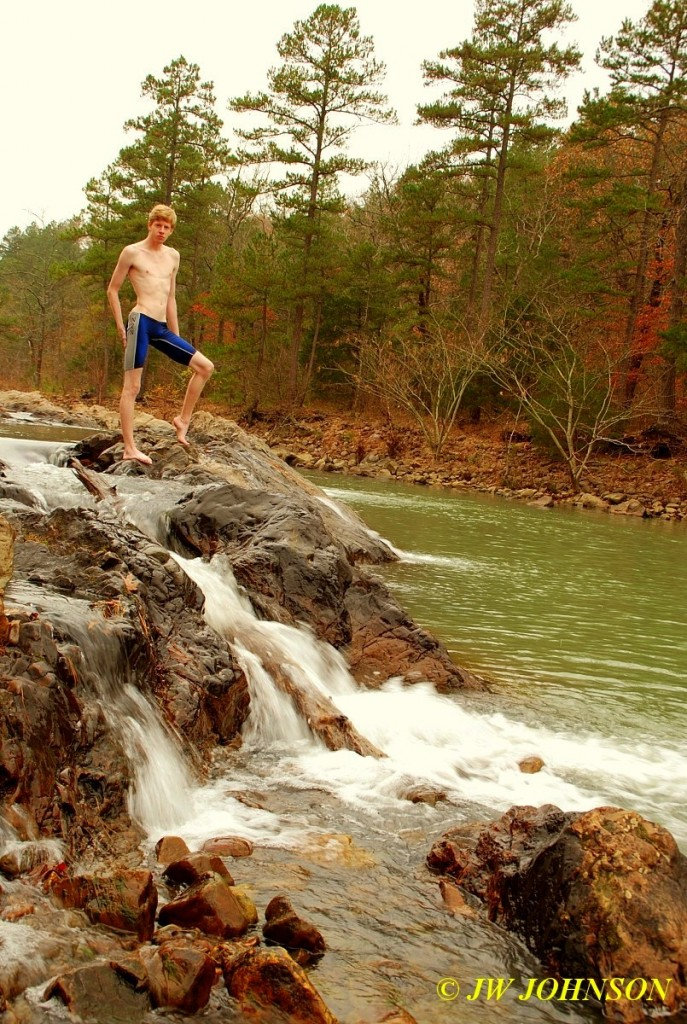 Swim Shorts At Fouche River Falls