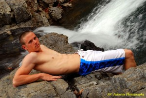 Waterfall Abs Hottie