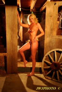 Hot Babe in Barn